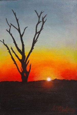 'AFICAN SUNSET' Framed 165 x 115 cm $75