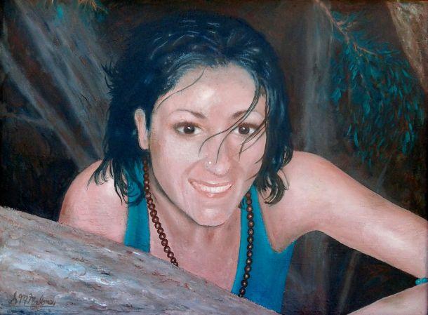 'MARCELLA' 42 x 31 cm, Unframed, $1000