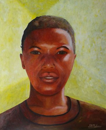 'ZAMBIAN WOMAN' 61 x 51 cm, Framed $350