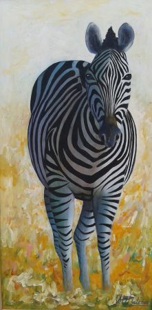 'ZEBRA STANDING 1' Framed, 61 36 cm $450 ($800 for the pair)