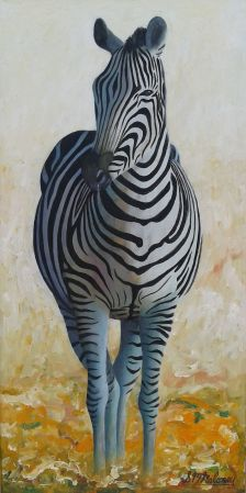'ZEBRA STANDING 2' Framed, 61 36 cm $450 ($800 for the pair)